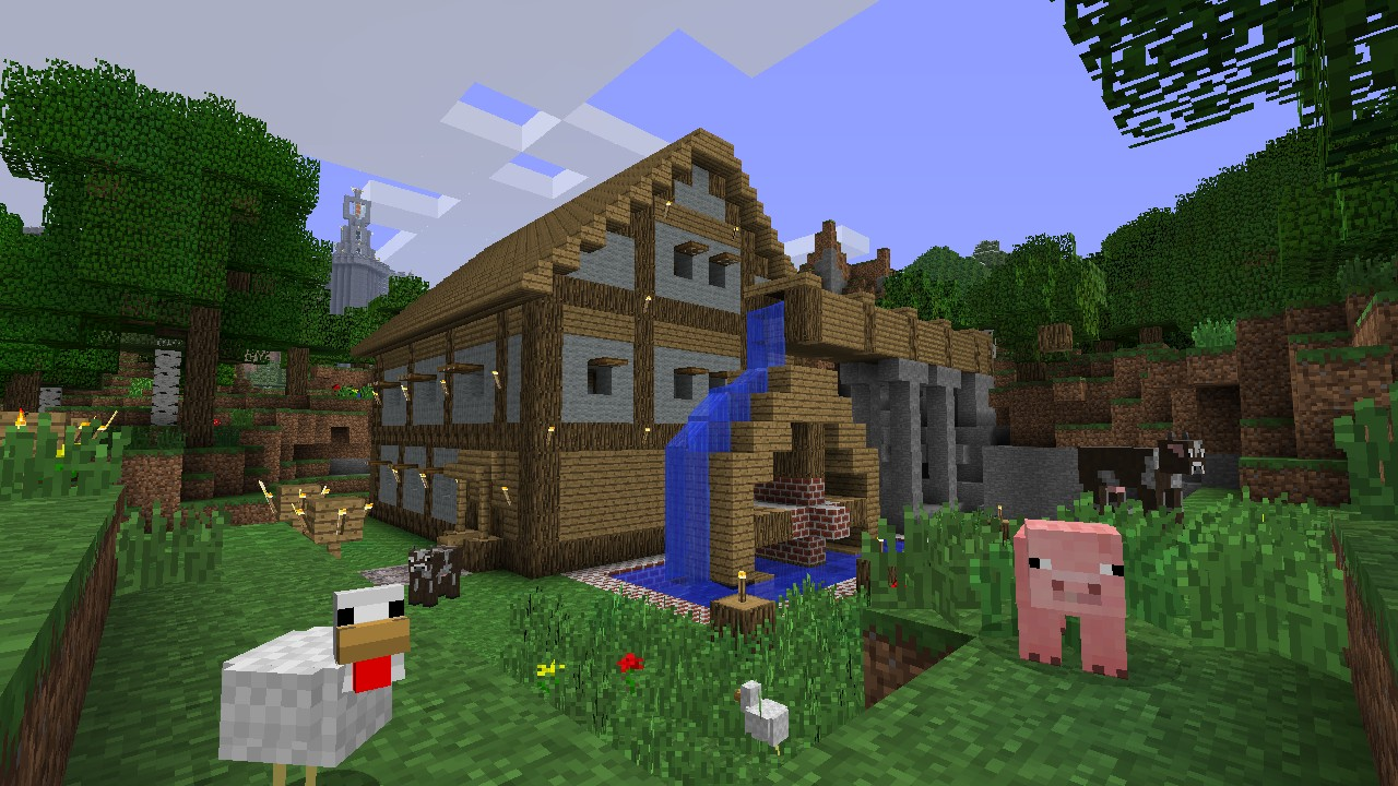 Minecraft xbox 360 edition review ztgd for Building a house ideas