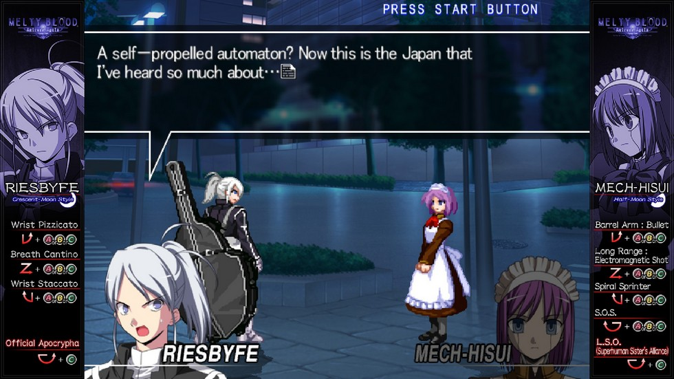 What anime game is complete without a mecha-maid?
